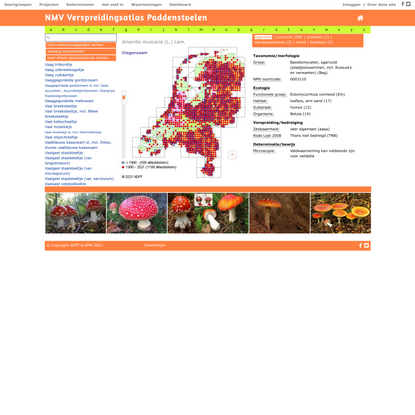 NDFF Verspreidingsatlas | Amanita muscaria - Vliegenzwam
