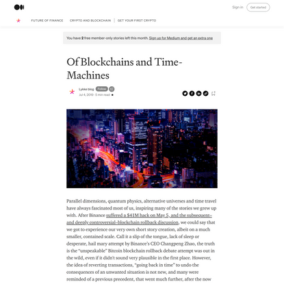 Of Blockchains and Time-Machines