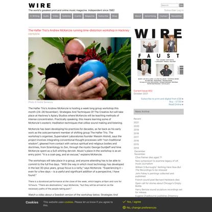 The Hafler Trio's Andrew McKenzie running time-distortion workshop in Hackney - The Wire