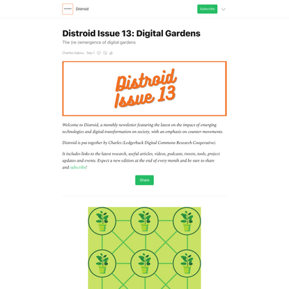 Distroid Issue 13: Digital Gardens - by Charles Adjovu - Distroid