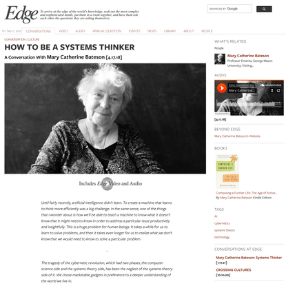 HOW TO BE A SYSTEMS THINKER | Edge.org