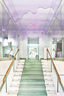 Maria Nila nail salon, Stockholm (designed by ASKA, 2021)