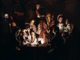 Experiment on a Bird with the Airpump, Joseph Wright of Derby