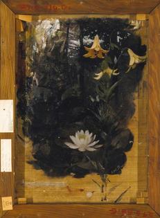 Abbott Handerson Thayer, Flower Studies, ca. 1886, oil on canvas