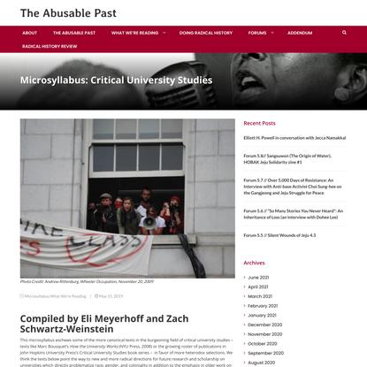 Microsyllabus: Critical University Studies
