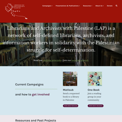 Librarians and Archivists with Palestine – information workers in solidarity with the Palestinian people