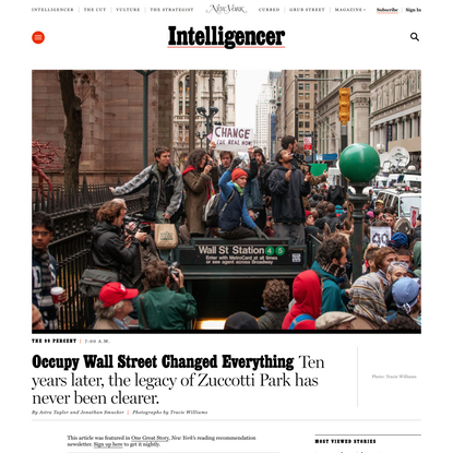 Occupy Wall Street Changed Everything