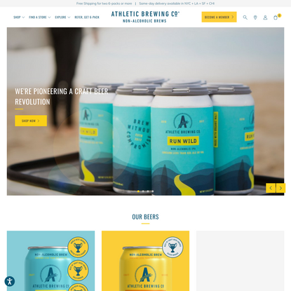 Athletic Brewing Company | Craft Non-Alcoholic Beer