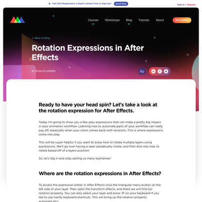 Rotation Expressions in After Effects