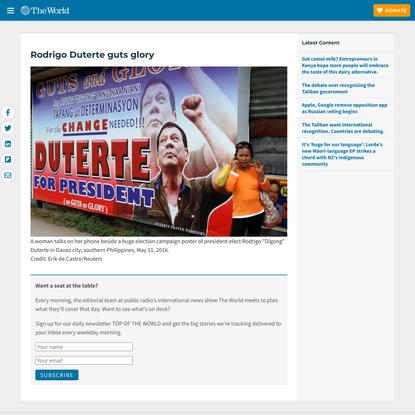 Rodrigo Duterte guts glory