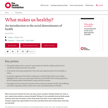What makes us healthy? - The Health Foundation