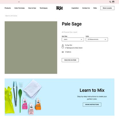 Pale Sage – Rit Dye