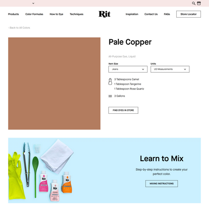 Pale Copper – Rit Dye