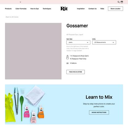 Gossamer – Rit Dye