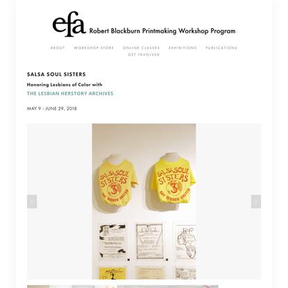 Salsa Soul Sisters — Robert Blackburn Printmaking Workshop