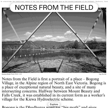 Notes from the Field - Home