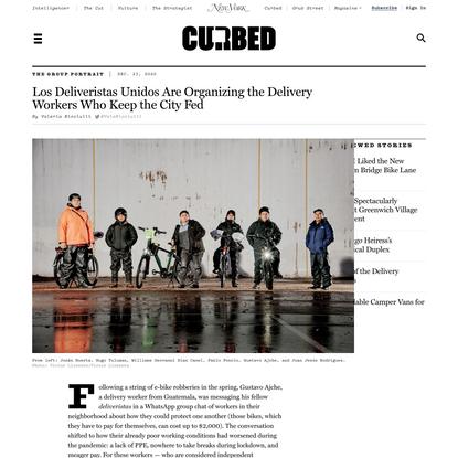 Los Deliveristas Unidos: Essential Workers of NYC Delivery