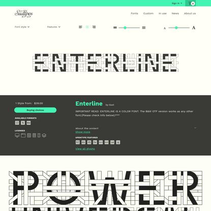 Enterline font family · Sudtipos.com
