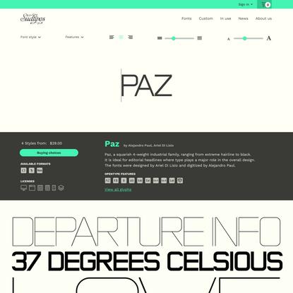 Paz font family · Sudtipos.com