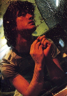 Takeshi Kaneshiro behind the scenes of Wong Kar Wai's FALLEN ANGELS, 1995.