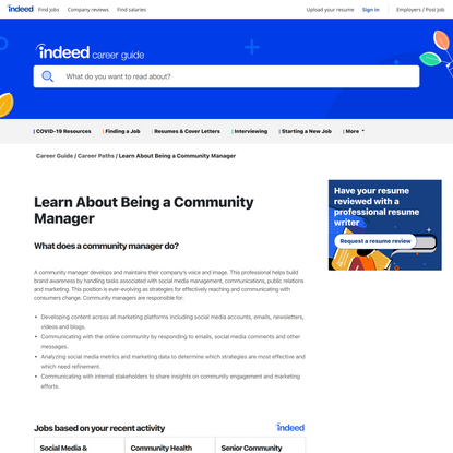Learn About Being a Community Manager   Indeed.com