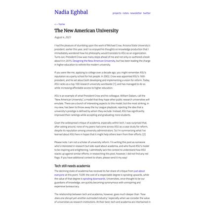 The New American University