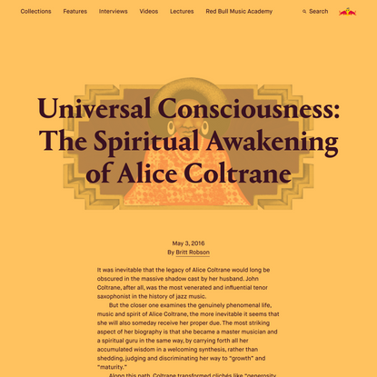 Universal Consciousness: The Spiritual Awakening of Alice Coltrane | Red Bull Music Academy Daily