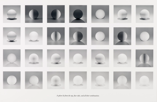 Sol Lewitt, A sphere lit from the top, four sides, and all their combinations, 2004