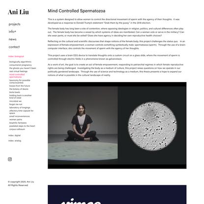 mind-controlled spermatozoa — Ani Liu