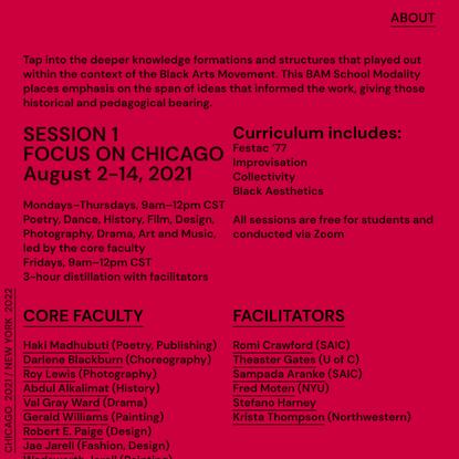 Black Arts Movement School Modality