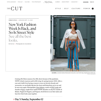 New York Fashion Week Is Back, and So Is Street Style