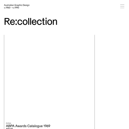 Re:collection | Home