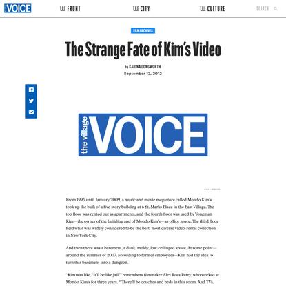 The Strange Fate of Kim's Video | The Village Voice