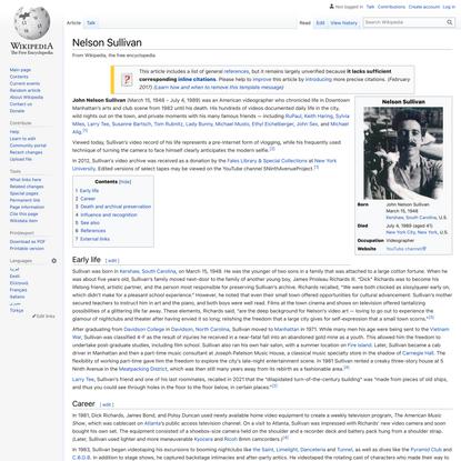 Nelson Sullivan - Wikipedia