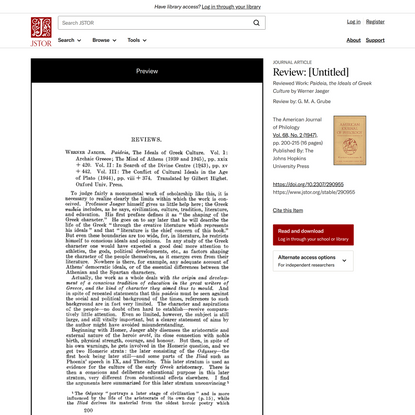 Review: [Untitled] on JSTOR