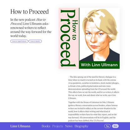 Podcast: How to Proceed — Linn Ullmann