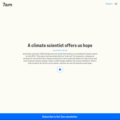 A climate scientist offers us hope