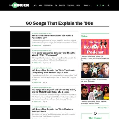 60 Songs That Explain the '90s - The Ringer