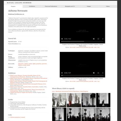 Rafael Lozano-Hemmer - Airborne Newscasts
