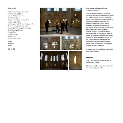 julian stein — time lenses: palimpsest