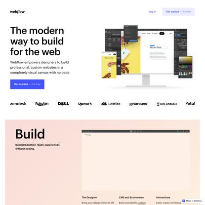 Webflow: The no-code platform for web design and development
