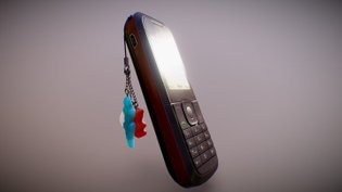 Retro cell phone (Low-poly)