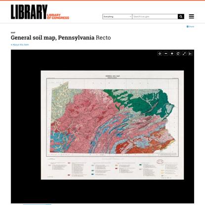 General soil map, Pennsylvania