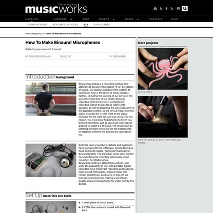 How To Make Binaural Microphones | Musicworks magazine