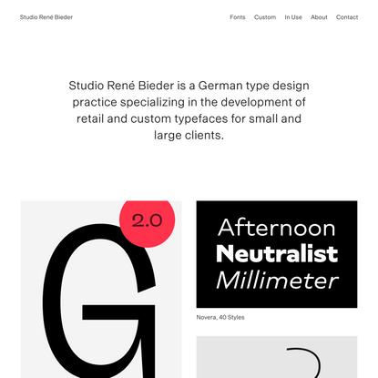René Bieder / Type Design