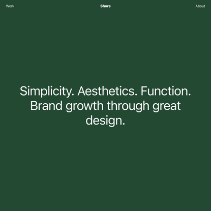 Shore - A Design and Technology Agency in Seattle