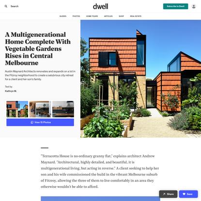 Terracotta House by Austin Maynard Architects