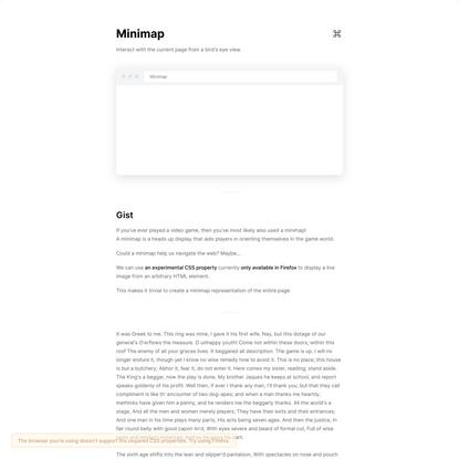 Minimap — uiwtf