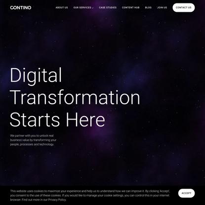 Contino | Global Transformation Consultancy