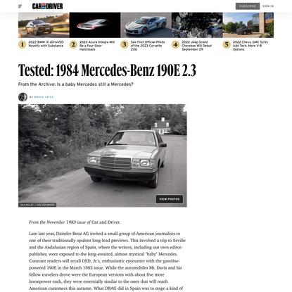 Tested: 1984 Mercedes-Benz 190E 2.3